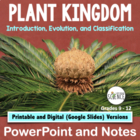 Plant Kingdom: Introduction and Classification of Plants P
