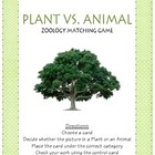 Plant vs. Animal Matching Game