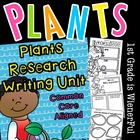 Plants Writing Unit w/Literacy+Math for k-2 Freebies in Do