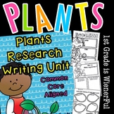 """Plants """"Research"""" Writing Unit for K-2nd Grade"""