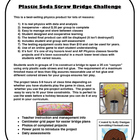 Plastic Soda Straw Bridge Build Challenge - Physics Project