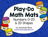 Play-Do Math Mats {Numbers 1-20 and 2D Shapes}