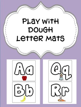 Play Dough Fun Letter Mats