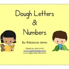 Play Dough Letters & Numbers