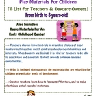 Play Materials For Children (A List For Teachers &amp; Daycare