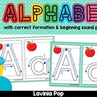 Playdough Mats - Alphabet with Correct Letter Formation an