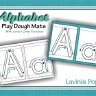 Playdough Mats - Alphabet with Correct Letter Formation