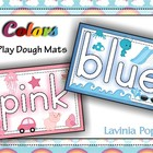 Playdough Mats - Colors / Colours with pictures