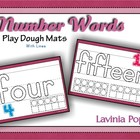 Playdough Mats - Number Words with Lines (0-20)