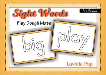 Playdough Mats - Sight Words Pre-Primer {FREE}