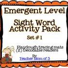 Playdough Tracing Sight Word Mats and Decodable Printable Books