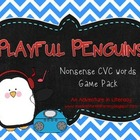 Playful Penguins Nonsense CVC Word Games