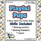 Playful Pups Basic Skills File Folder Games Book