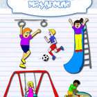 Clipart - Playground kids