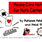 Playing Cards Math Mats