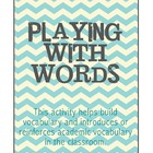 Playing With Words - Reading - Grades 2, 3, 4
