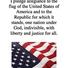 Pledge of Allegiance in English mini-poster
