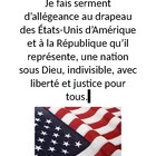 Pledge of Allegiance in French mini-poster
