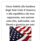 Pledge of Allegiance in Latin mini-poster