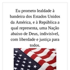 Pledge of Allegiance in Portuguese mini-poster