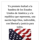 Pledge of Allegiance in Spanish mini-poster
