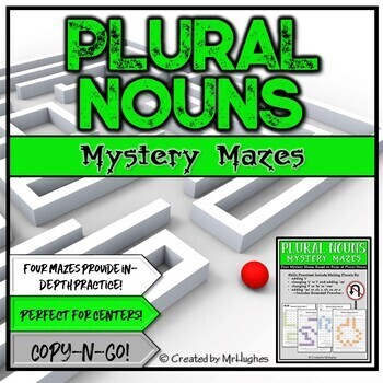 Created By Mr Hughes: Plural Nouns Mystery Mazes