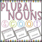 Plural Nouns SCOOT! (task cards/review game)