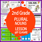 Plural Nouns-Second Grade Common Core Lesson