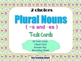 Plural Nouns (-s and -es) Task Cards - {SCOOT} 2 Card Choices