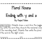 Plural Nouns with Endings y and s Activity (Common Core -