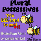 Plural Possessives Powerpoint- Includes a worksheet companion!