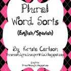 Plural Word Sorts (English/Spanish)