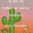 Plurals, Prefixes, Synonyms,&amp; Two Story Structure Handouts
