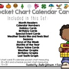 Pocket Chart Calendar Cards