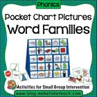 Pocket Chart Pictures- Word Families