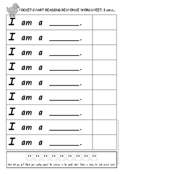 Pocket Chart Sentence Match_Animals (NSW font)