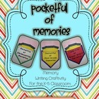 Pocketful of Memories - Memory Writing Craftivity for K-5