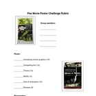 Poe Movie Poster Challenge with rubric
