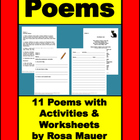Poems Poetry Printable Lesson Plans Activities Worksheets