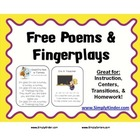 Poems and Fingerplays Freebies!