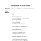 Poetry Activities - Class Activities or Use At Family Writ