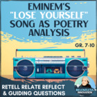 Poetry Analysis and Response Assignment Eminem's Lose Yourself