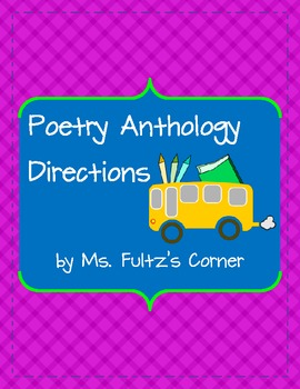 Poetry Anthology Directions