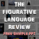 Figurative Language Review PowerPoint (Free Sample -Poetry