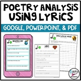 Poetry Elements Using Lyrics