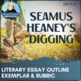 Poetry Essay Outline - Seamus Heaney's Digging