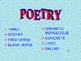 Poetry Examples PowerPoint