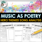 Poetry - Hero Music - Write about songs with Hero Theme.