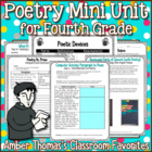 Poetry Mini Unit (Fourth Grade MCAS Prep)