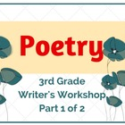 Poetry Month (Part 1 of 2) Lower Elementary Writer's Workshop
